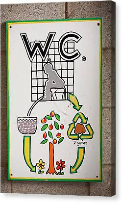 Composting Toilet Canvas Print by Ashley Cooper