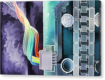 Computing Canvas Print by Steve Ohlsen