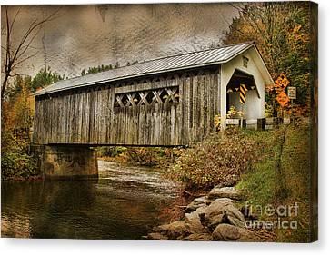 Comstock Bridge 2012 Canvas Print by Deborah Benoit