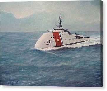 Concept Design For Off Shore U. S. Coast Guar Cutter Canvas Print by William H RaVell III