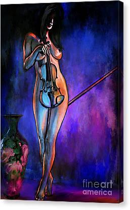 Concert At Night. Canvas Print by Andrzej Szczerski