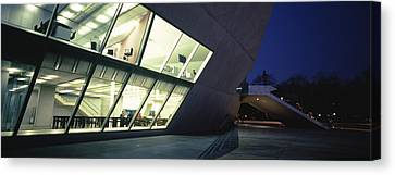 Concert Hall Lit Up At Night, Casa Da Canvas Print by Panoramic Images