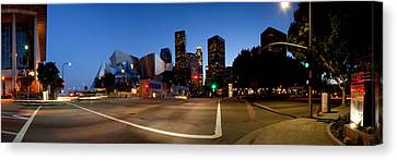 Concert Hall Lit Up At Night, Walt Canvas Print by Panoramic Images