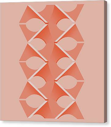 Concrete Vertebrae Canvas Print by Peter Cassidy