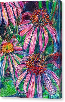 Coneflower Twirl Canvas Print by Kendall Kessler