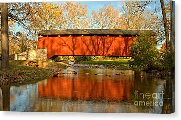 Conestoga River Reflections Crop Canvas Print by Adam Jewell
