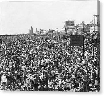 Coney Island - Brighton Beach Canvas Print by MMG Archives