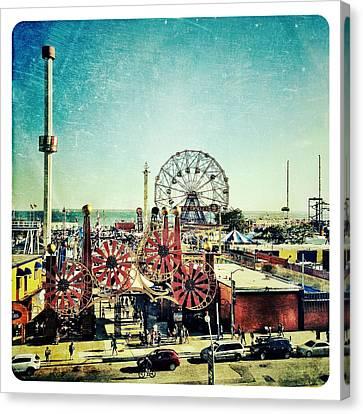 Coney Island Amusement Canvas Print by Natasha Marco