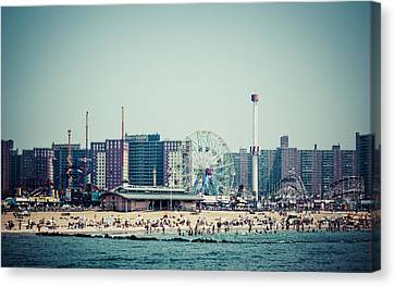 Coney Island Dream Canvas Print by Frank Winters