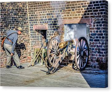Confederate Cannoneer Canvas Print by Rob Sellers