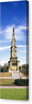 Confederate Memorial In Forsyth Park Canvas Print by Panoramic Images