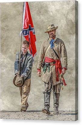 Confederate Sons Canvas Print by Randy Steele