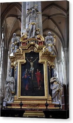 Confrerie Notre Dame Du Puy Canvas Print by Aidan Moran