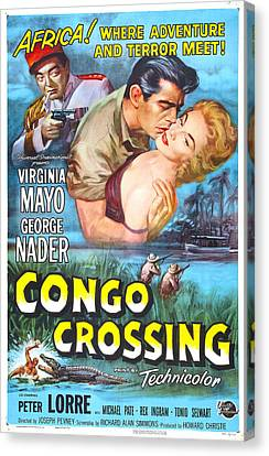 Congo Crossing, Us Poster, From Left Canvas Print by Everett