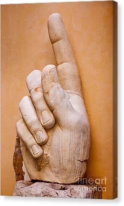 Constantine Hand Canvas Print by Brian Jannsen