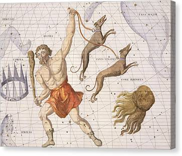 Constellation Of Bootes Canvas Print by Sir James Thornhill