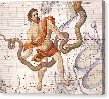 Constellation Of Ophiucus And Serpens Canvas Print by Sir
