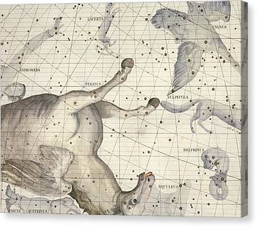 Constellation Of Pegasus Canvas Print by Sir James Thornhill
