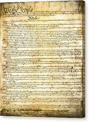 Constitution Of The United States Canvas Print by Daniel Hagerman