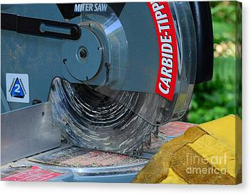Construction The Chop Saw Canvas Print by Paul Ward