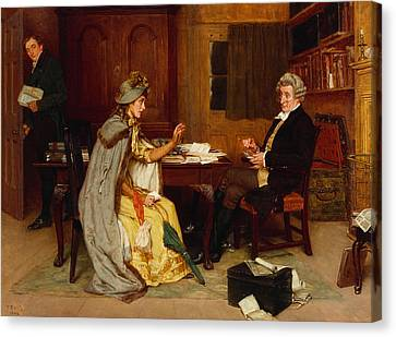 Consulting Her Lawyer Canvas Print by Frank  Dadd