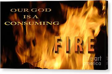 Consuming Fire Canvas Print by Beverly Guilliams