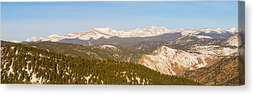 Continental Divide Rocky Mountain Snowy Peaks Panorama Pt1 Canvas Print by James BO  Insogna