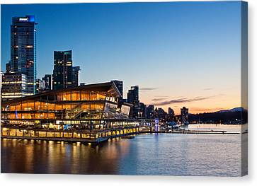 Convention Centre Sunset Canvas Print by Alexis Birkill
