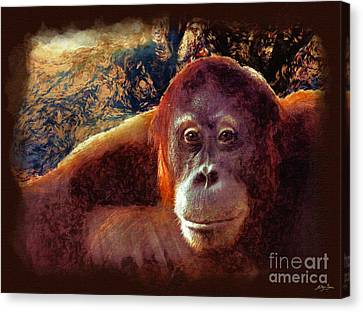 Conversations With An Orangutan Canvas Print by Skye Ryan-Evans