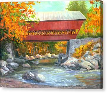 Conway Covered Bridge #47 Canvas Print by Elaine Farmer