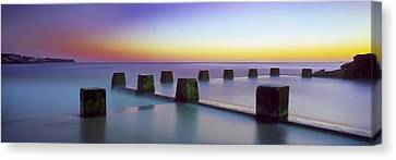 Coogee Baths Australia Canvas Print by Mike Banks