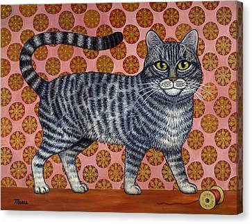 Cookie Cat Canvas Print by Linda Mears