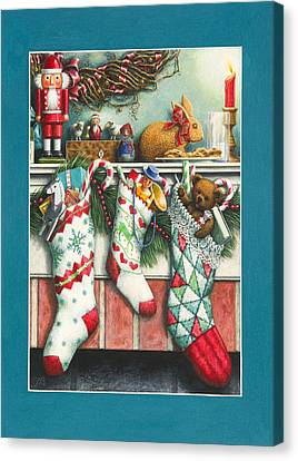 Cookies For Santa Canvas Print by Lynn Bywaters