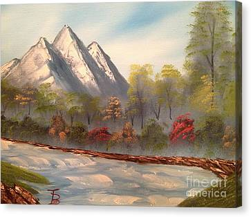 Cool Mountain River Canvas Print by Tim Blankenship