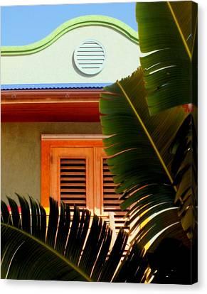 Cool Tropics Canvas Print by Karen Wiles