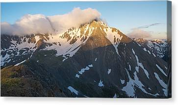 Cool Whip - Mountain Sunrise Canvas Print by Aaron Spong