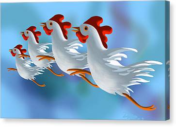 Coop Troupe  Canvas Print by Tom Dickson