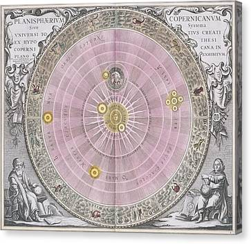 Copernican Planisphere, 1708 Canvas Print by Science Photo Library