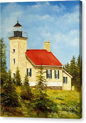Copper Harbor Lighthouse Canvas Print by Lee Piper