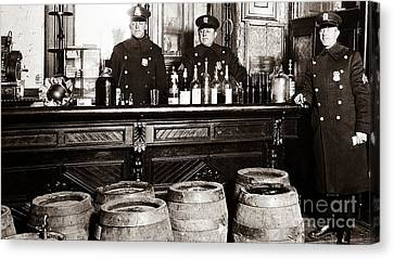 Cops At The Bar Canvas Print by Jon Neidert