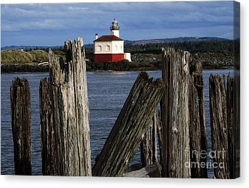 Coquille River Lighthouse Oregon 1 Canvas Print by Bob Christopher