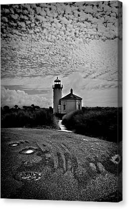 Coquille River Lighthouse Canvas Print by Melanie Lankford Photography