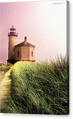 Coquille River Lighthouse Oregon Canvas Print by Rafael Escalios