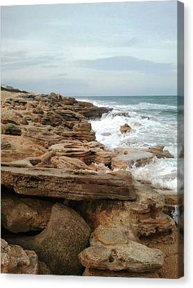 Coquina Style Canvas Print by Julie Wilcox