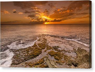 Coral Island Sunset Canvas Print by Tin Lung Chao