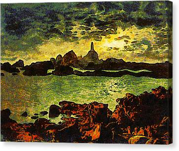Corbiere Lighthouse Canvas Print by Unknown