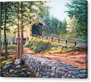 Corbin Covered Bridge Canvas Print by Elaine Farmer