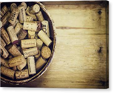 Cork Collection Canvas Print by Heather Applegate
