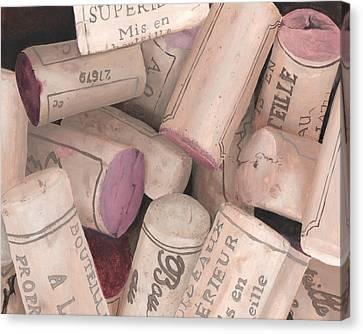 Corks II Print Canvas Print by Cathy Savels