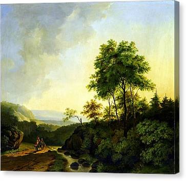 Cornelis Francois Roos Gezicht In Het Harzgebergte1840 Canvas Print by MotionAge Designs